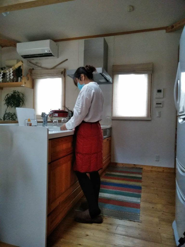 巻きスカートの使用例として撮ったシチュエーション