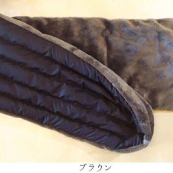 羽毛のボアダウンマフラー:ブラウン