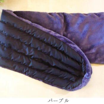 羽毛のボアダウンマフラー:パープル