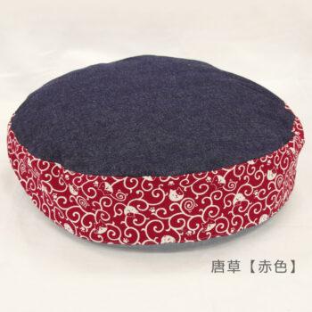ダウンラウンドベッド マーク2:唐草赤色