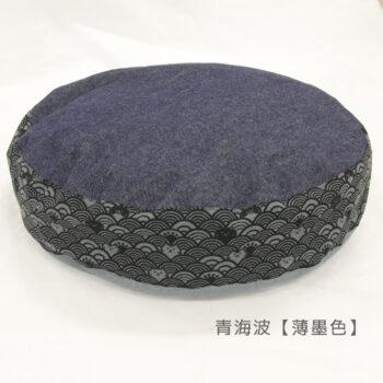 ダウンラウンドベッド マーク2:青海波薄墨色