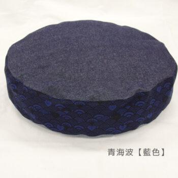 ダウンラウンドベッド マーク2:青海波藍色