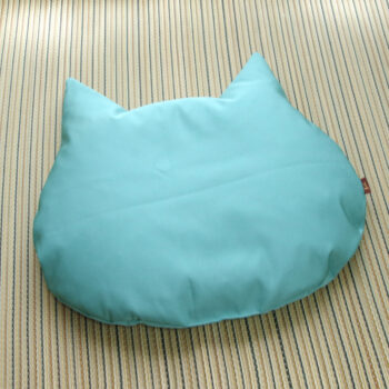 冷感!猫のしあわせ座布団:クールグリーン